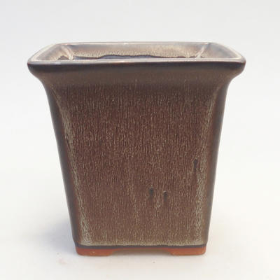 Bonsai bowl 11 x 11 x 11.5 cm, color brown - 1