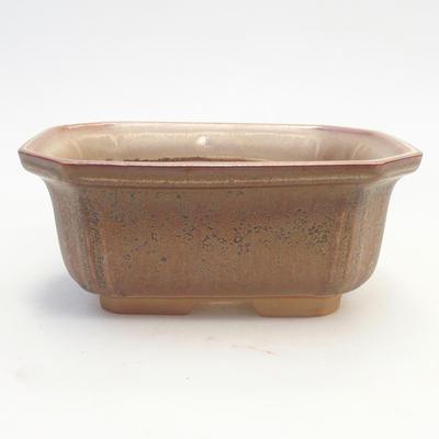 Bonsai bowl 14.5 x 12 x 6.5 cm, brown color - 1