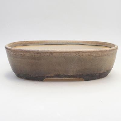 Bonsai bowl 29.5 x 23 x 8 cm, brown-beige color - 1