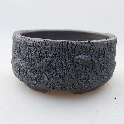Ceramic bonsai bowl 8.5 x 8.5 x 4.5 cm, color cracked - 1