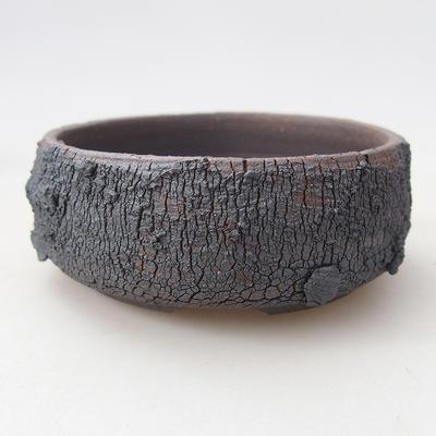 Ceramic bonsai bowl 7.5 x 7.5 x 3 cm, color cracked - 1