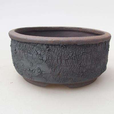 Ceramic bonsai bowl 10 x 10 x 4.5 cm, color cracked - 1