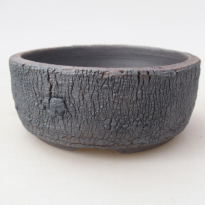 Ceramic bonsai bowl 9 x 9 x 3.5 cm, color cracked - 1