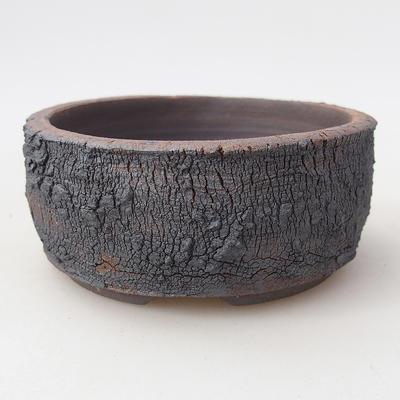Ceramic bonsai bowl 8.5 x 8.5 x 4 cm, color cracked - 1