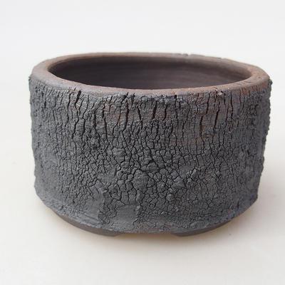 Ceramic bonsai bowl 8 x 8 x 4.5 cm, color cracked - 1