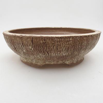 Ceramic bonsai bowl 19.5 x 19.5 x 6 cm, color cracked - 1