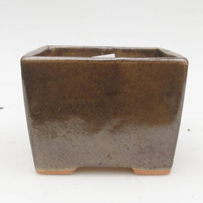 Ceramic bonsai bowl 2nd quality - 11 x 11 x 8,5 cm, color green - 1