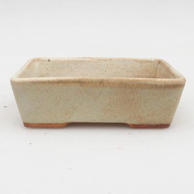 Ceramic bonsai bowl 2nd quality -12,5 x 9 x 4 cm, color gray - 1