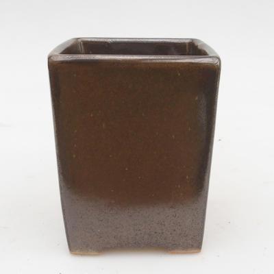 Ceramic bonsai bowl 2nd quality - 8 x 8 x 10 cm, color green - 1
