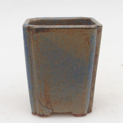 Ceramic bonsai bowl 2nd quality - 7 x 7 x 5 cm, brown-blue color - 1