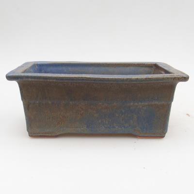 Ceramic bonsai bowl 2nd quality - 19,5 x 14 x 7,5 cm, brown-blue color - 1