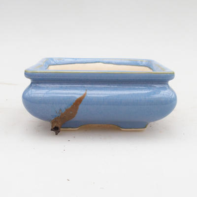 Ceramic bonsai bowl 2nd quality - 12 x 12 x 5 cm, color blue - 1