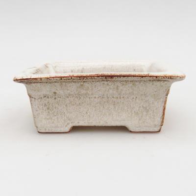 Ceramic bonsai bowl 2nd quality - 11 x 8,5 x 4 cm, color beige - 1