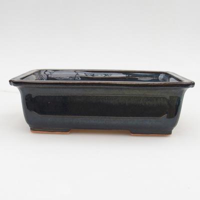 Ceramic bonsai bowl 2nd quality - 17,5 x 12 x 5,5 cm, brown-blue color - 1