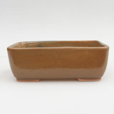 Ceramic bonsai bowl 2nd quality - 16 x 10 x 5,5 cm, brown color - 1