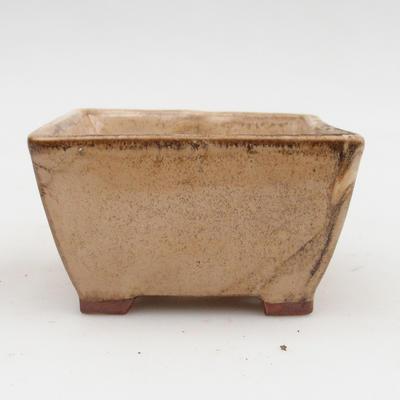 Ceramic bonsai bowl 2nd quality - 9 x 9 x 5,5 cm, color beige - 1