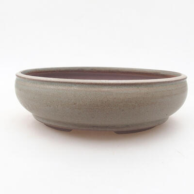 Ceramic bonsai bowl 18.5 x 18.5 x 5 cm, color green - 1
