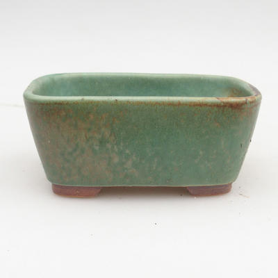 Ceramic bonsai bowl 2nd quality - 13 x 10 x 5,5 cm, brown-green color - 1