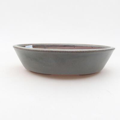 Ceramic bonsai bowl 18.5 x 18.5 x 4 cm, color green - 1