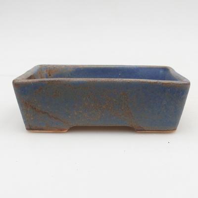 Ceramic bonsai bowl 2nd quality - 12 x 9 x 3,5 cm, brown-blue color - 1
