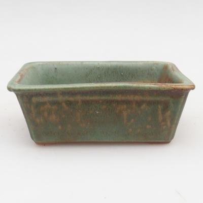 Ceramic bonsai bowl 2nd quality - 12 x 8 x 4 cm, brown-green color - 1