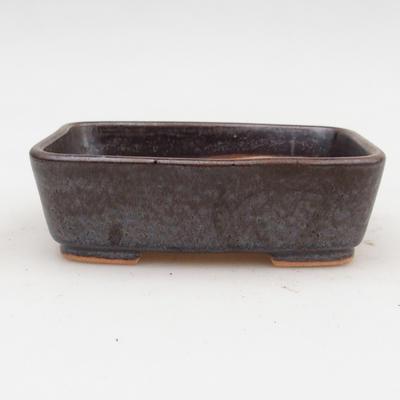 Ceramic bonsai bowl 2nd quality - 12 x 10 x 4 cm, brown color - 1