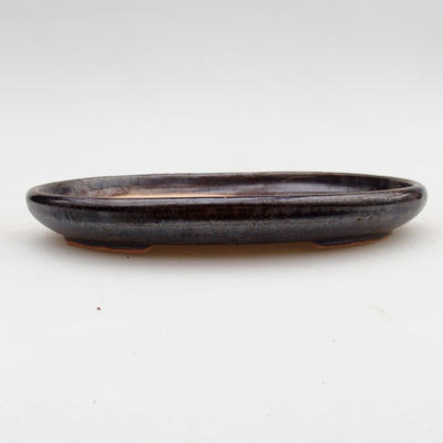 Ceramic bonsai bowl 2nd quality - 17 x 12 x 2 cm, brown color - 1
