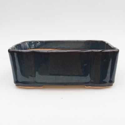 Ceramic bonsai bowl 2nd quality - 20 x 17 x 7 cm, brown-blue color - 1
