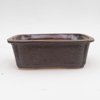 Ceramic bonsai bowl 2nd quality - 17,5 x 13 x 6 cm, color brown - 1