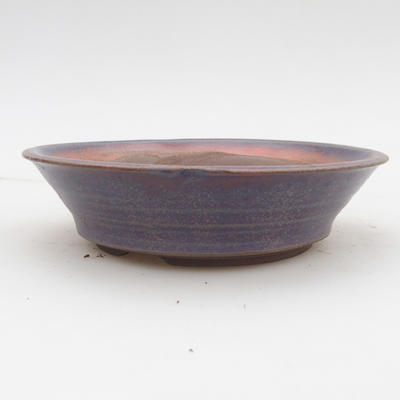 Ceramic bonsai bowl 2nd quality - 16 x 16 x 4 cm, blue color - 1