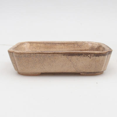 Ceramic bonsai bowl 2nd quality - 12 x 9 x 3 cm, color beige - 1