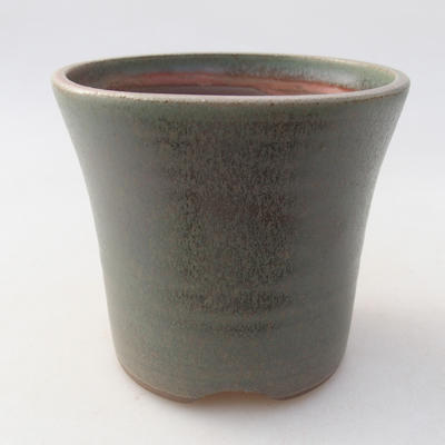Ceramic bonsai bowl 10 x 10 x 9 cm, color green - 1