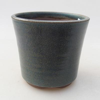 Ceramic bonsai bowl 9 x 9 x 8 cm, color blue - 1