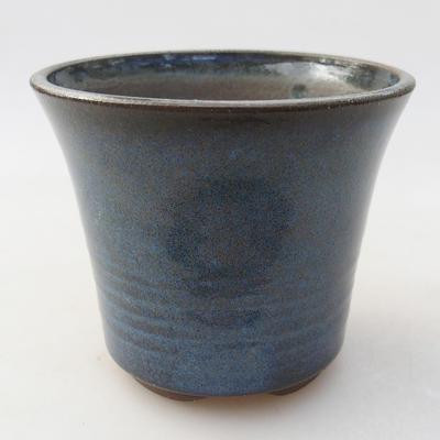 Ceramic bonsai bowl 10 x 10 x 8.5 cm, color blue - 1