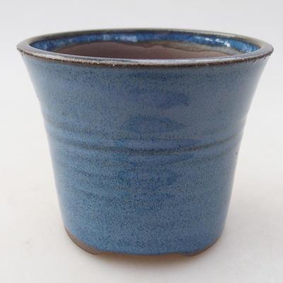 Ceramic bonsai bowl 9 x 9 x 7.5 cm, color blue - 1