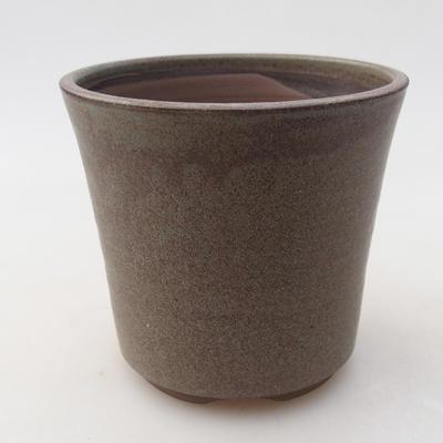 Ceramic bonsai bowl 9.5 x 9.5 x 9 cm, gray color - 1