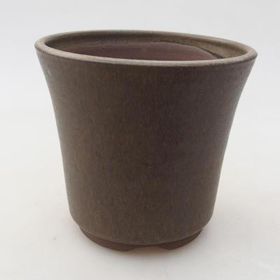 Ceramic bonsai bowl 10 x 10 x 9 cm, color brown - 1