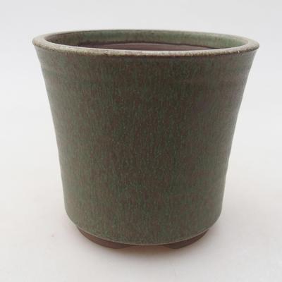 Ceramic bonsai bowl 9 x 9 x 8.5 cm, color green - 1