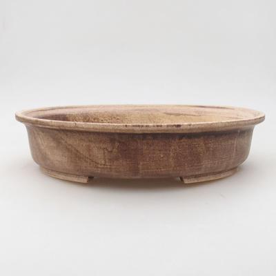 Ceramic bonsai bowl 28 x 25 x 6 cm, color brown - 1