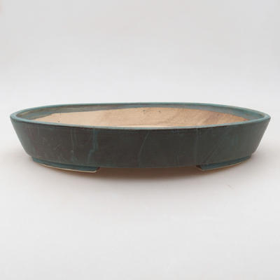 Ceramic bonsai bowl 28 x 24 x 4.5 cm, color green - 1
