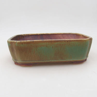 Ceramic bonsai bowl 20 x 17 x 5.5 cm, color green - 1