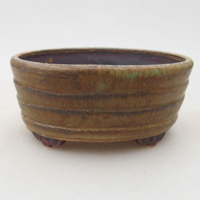 Ceramic bonsai bowl 10.5 x 9 x 4.5 cm, color green - 1