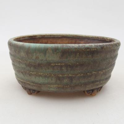 Ceramic bonsai bowl 10.5 x 9 x 4.5 cm, color green - 1