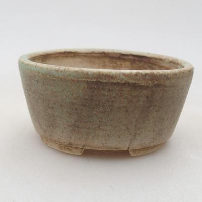 Ceramic bonsai bowl 7.5 x 6.5 x 3.5 cm, color green - 1