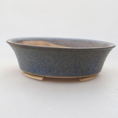 Ceramic bonsai bowl 14 x 12 x 3.5 cm, color blue - 1