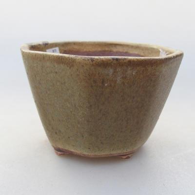Ceramic bonsai bowl 8.5 x 8.5 x 5.5 cm, color green - 1