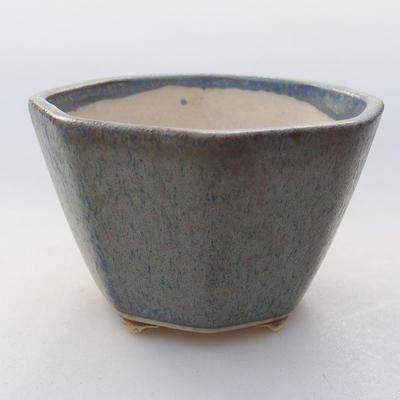 Ceramic bonsai bowl 8.5 x 8.5 x 5.5 cm, color blue - 1