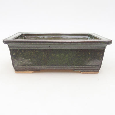 Ceramic bonsai bowl 16 x 12 x 5.5 cm, color green - 1