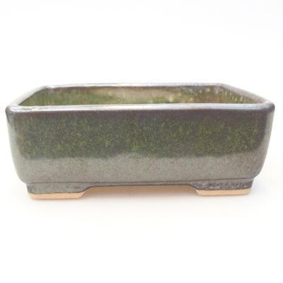 Ceramic bonsai bowl 15 x 11.5 x 5.5 cm, color gray-green - 1