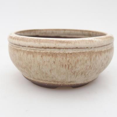 Ceramic bonsai bowl 10.5 x 10.5 x 5 cm, color beige - 1